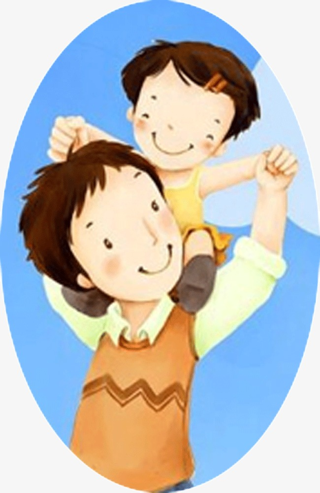 With kids father child. Boy clipart dad