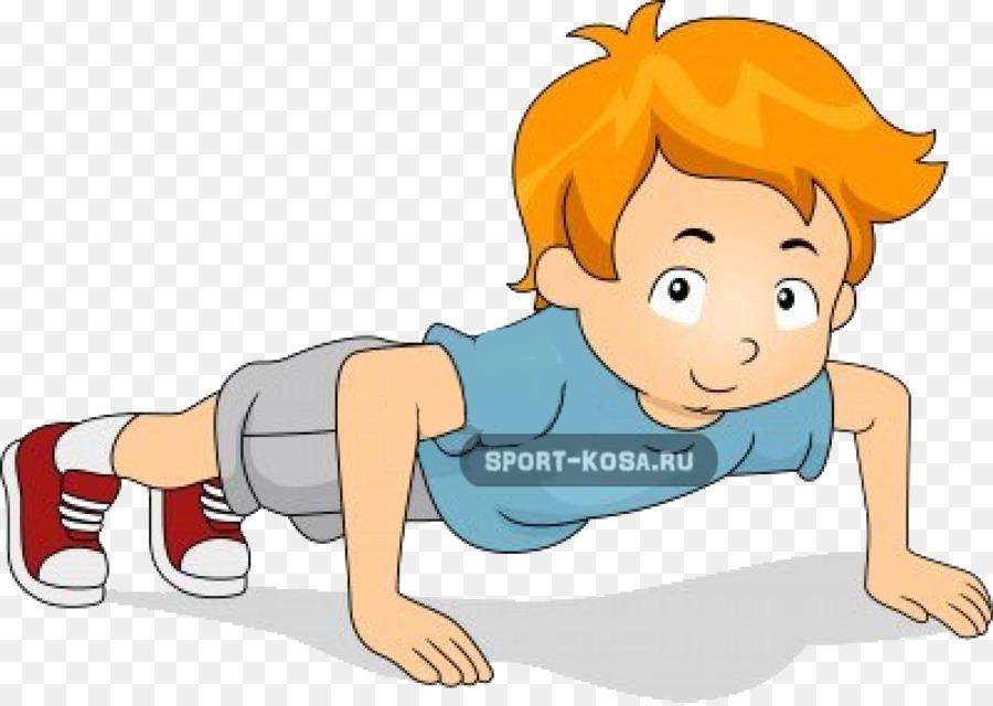 Man cartoon exercise illustration. Exercising clipart push up