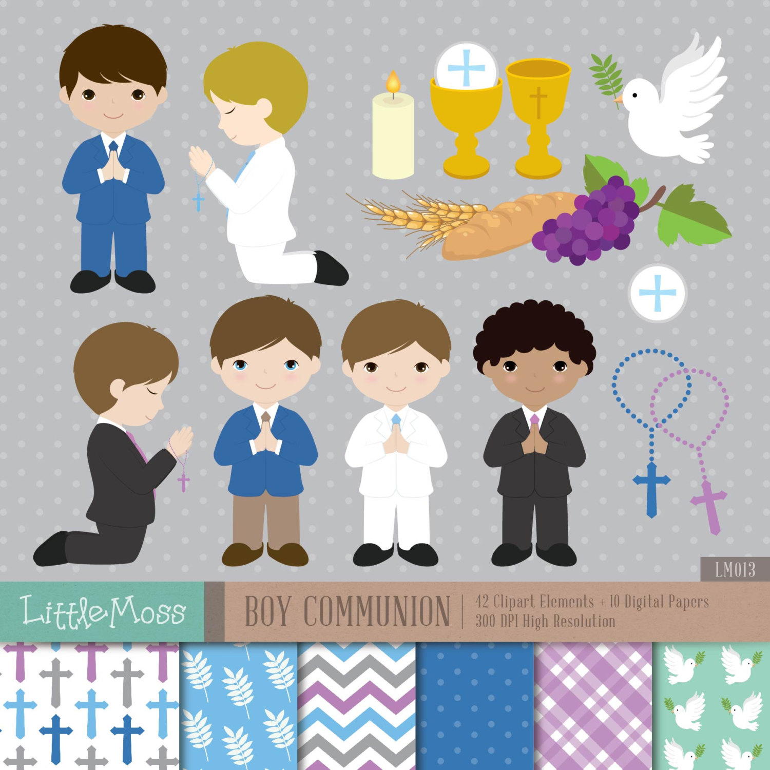 Boys clipart first communion. Boy digital and papers