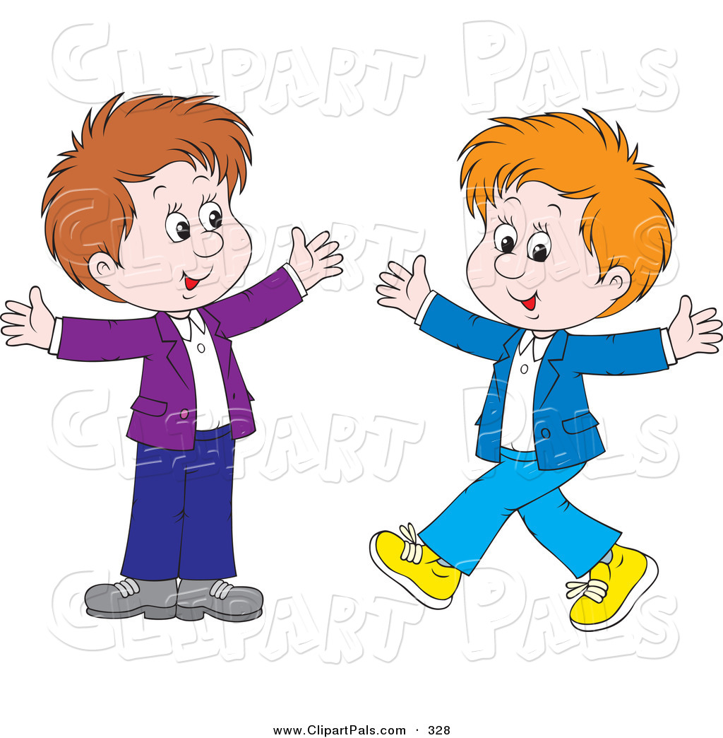 Boy clipart friendship.  collection of two