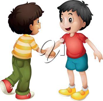 Boys Friendship Clipart