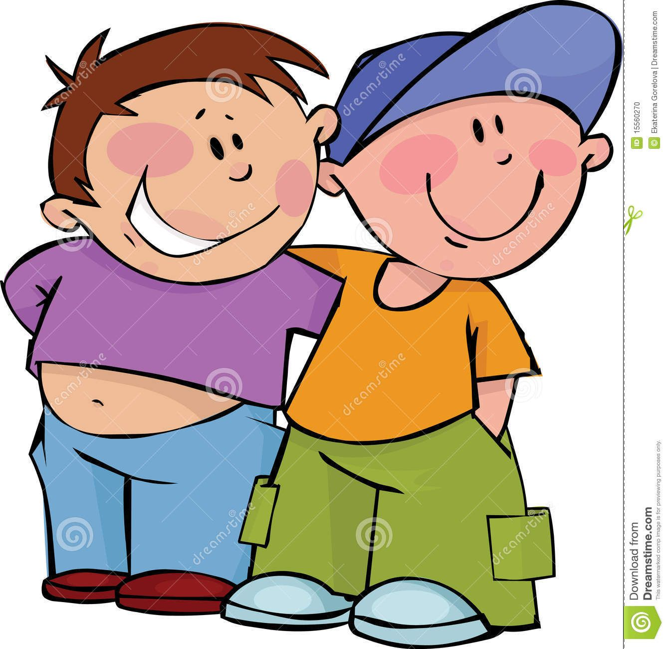 Friends two funny in. Boys clipart friendship