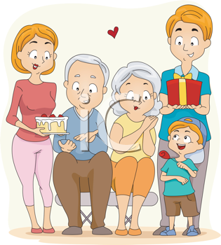 Grandparents day gifts for. Families clipart grandma