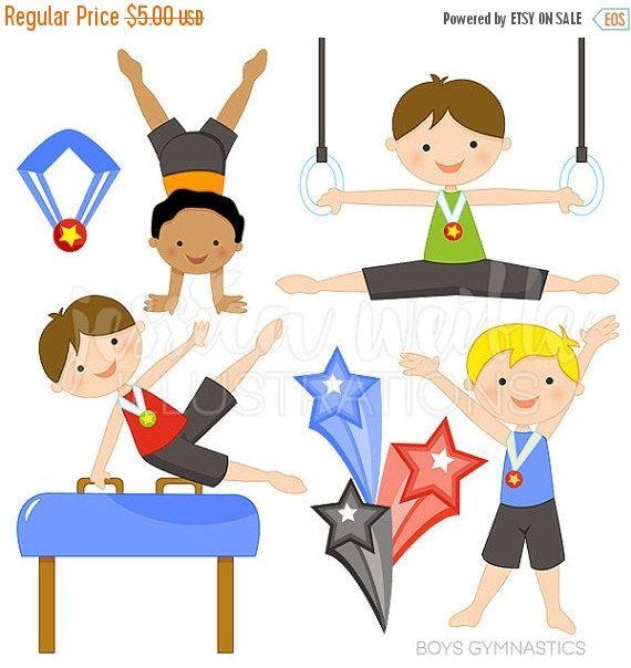 Gymnastics clipart baby. Sale boys cute digital