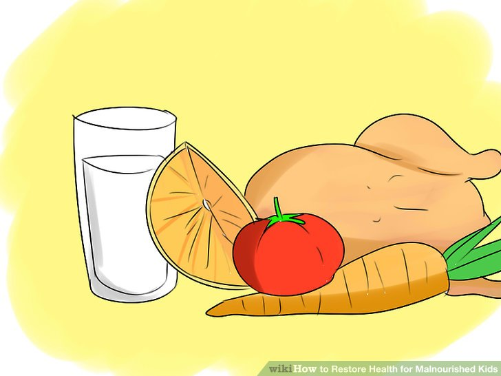 How to restore health. Boys clipart malnourished
