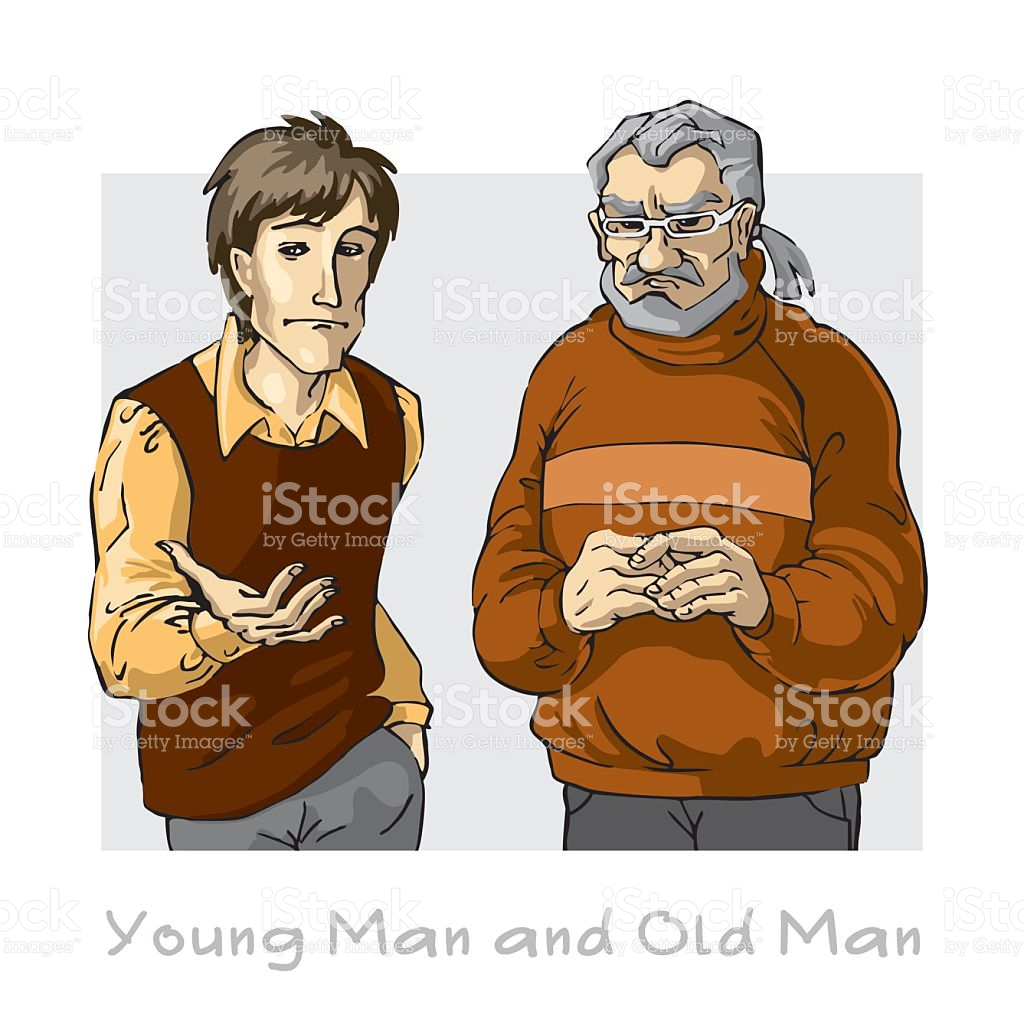 Boy clipart man. Old and