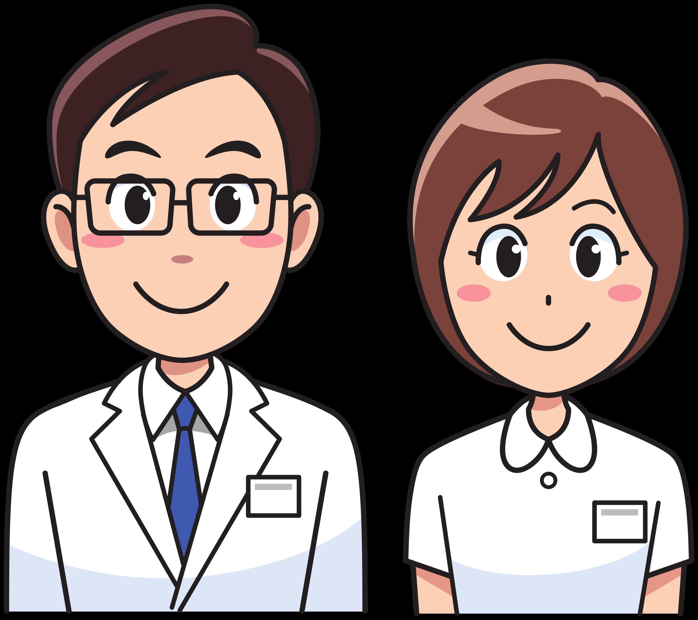 Doctor clipart cute. Medicine and nurse big