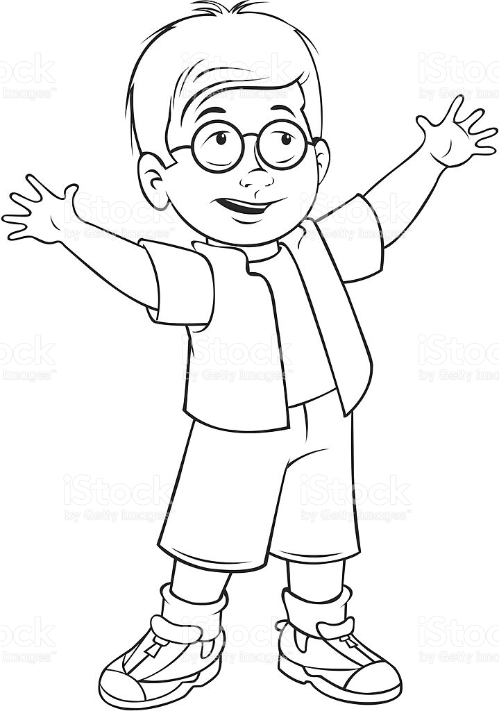 Boy drawing at getdrawings. Boys clipart outline