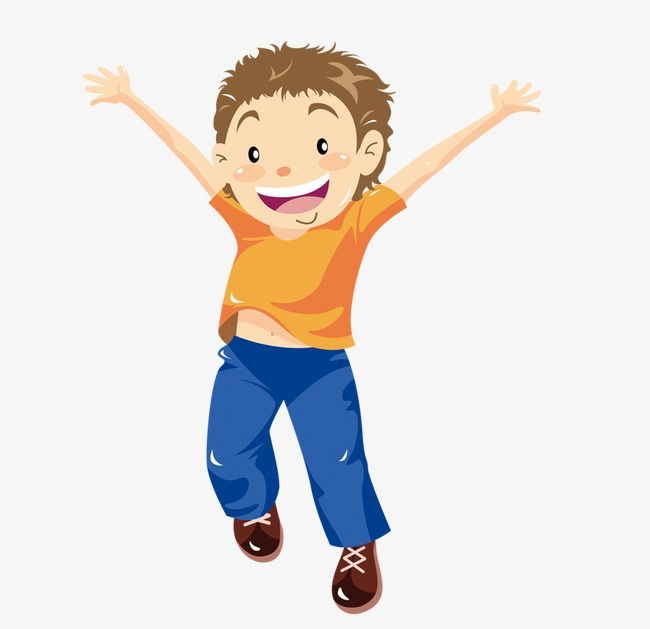 Hand painted boy happy. Boys clipart painting