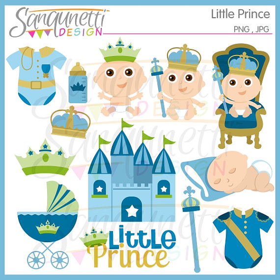 Boy clipart prince. Baby shower clip art