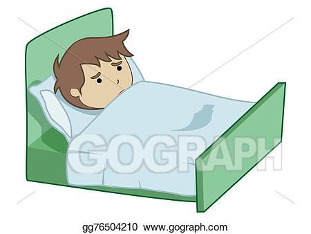 Stock illustration illustrations gg. Boy clipart sick