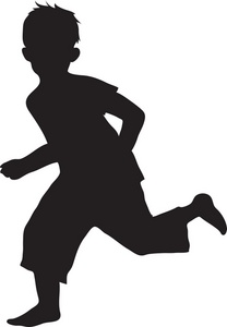 Boy clipart silhouette. Of a at getdrawings
