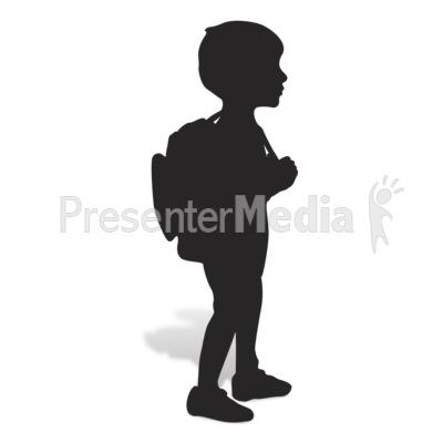 Boy clipart silhouette. School presentation great for