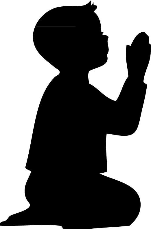 Praying google search templates. Boy clipart silhouette