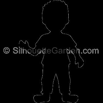 Clip art. Boy clipart silhouette