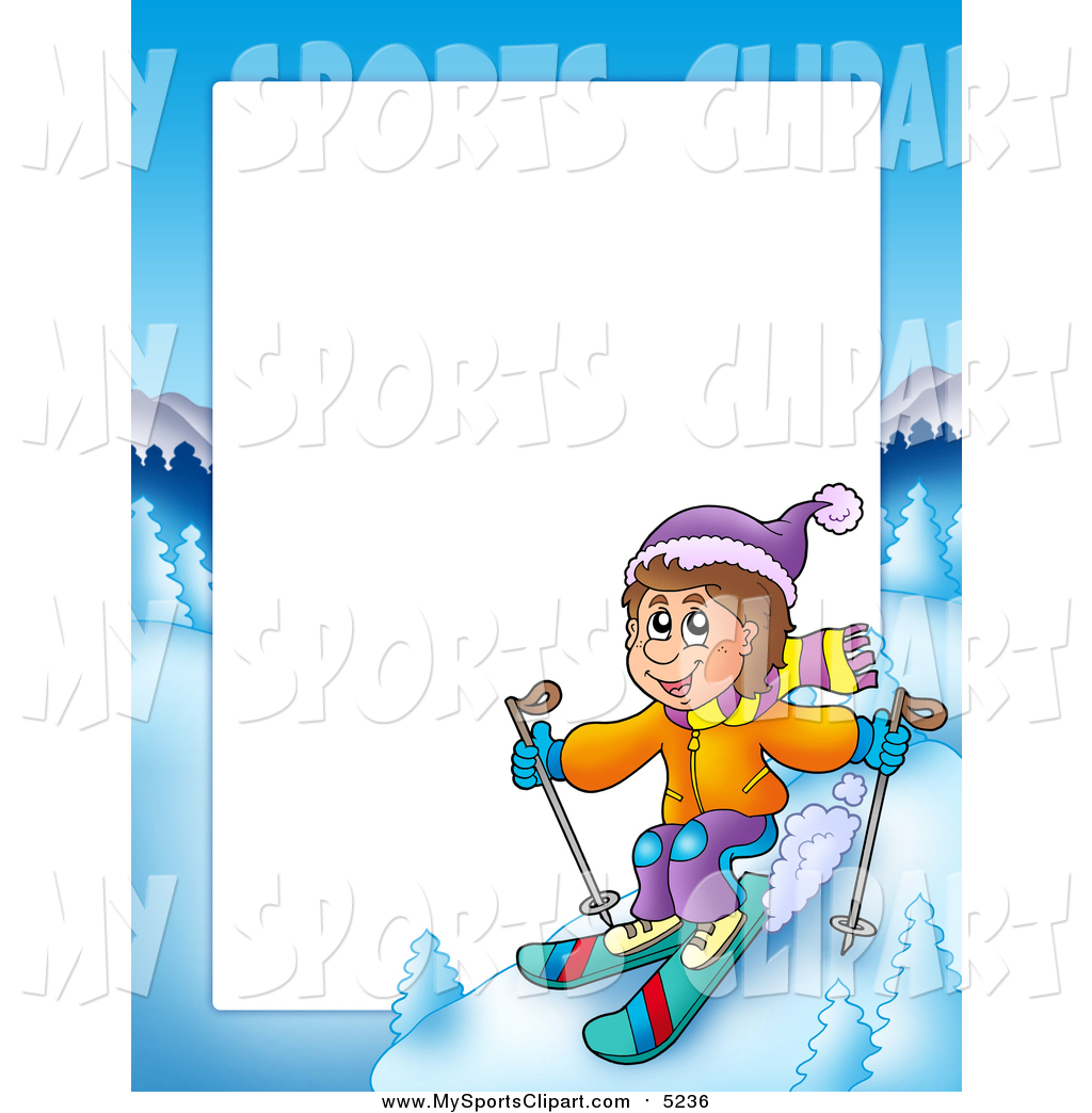Sports clip art of. Boys clipart skiing