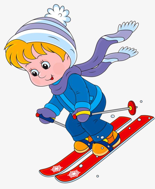 Boys clipart skiing. Ski boy sled skate