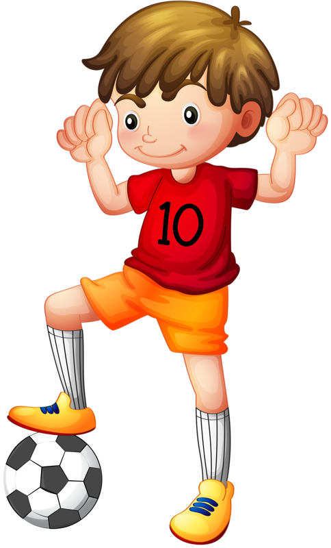 Color clipart football player. Shutterstock png soccer boys