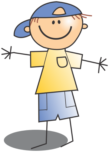 Boy clipart stick figure. Happy kids babies printables
