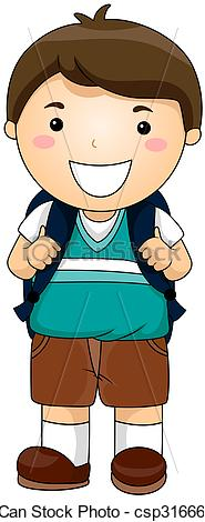 Boy Student Clipart