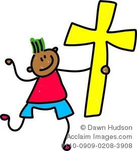 Illustration of a happy. Faith clipart godly