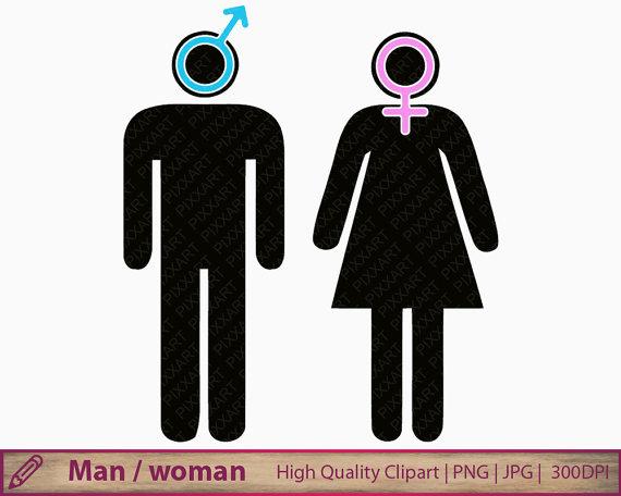 Man woman icon girl. Boy clipart symbol