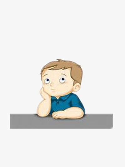 Boys clipart thinking. Little boy cartoon hand