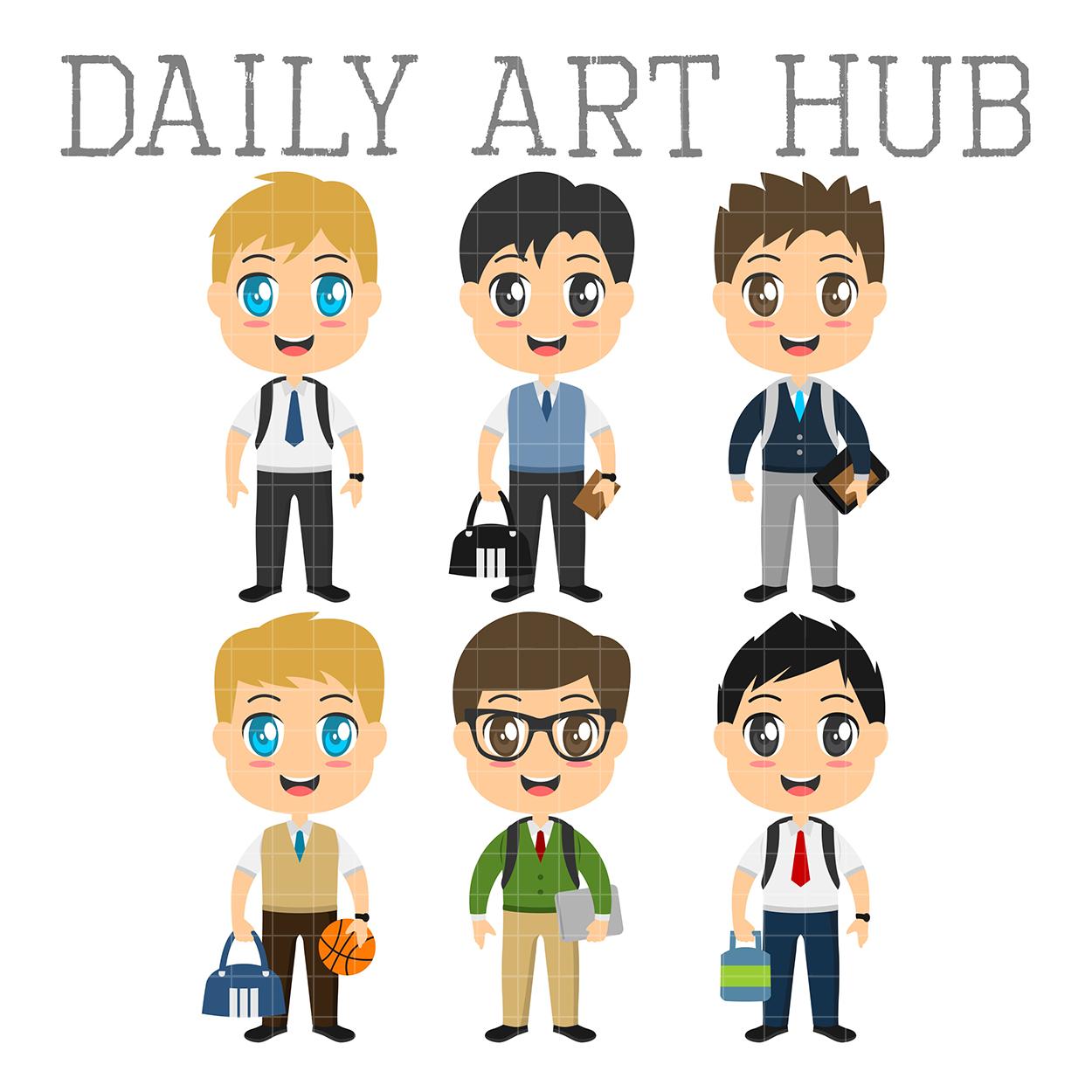 Cool school clip art. Boys clipart