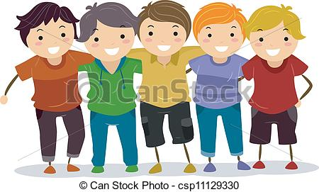 Boys clipart. Group of
