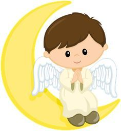 Angels first communion cards. Boys clipart angel