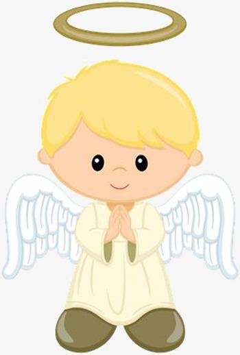 The little boy decorative. Boys clipart angel