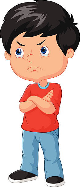 collection of boy. Boys clipart angry