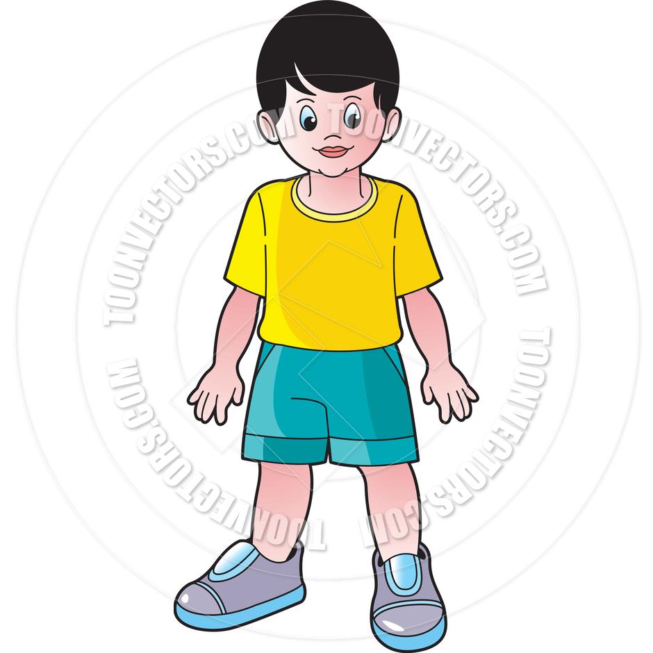 Boys clipart animated. Cartoon boy standing