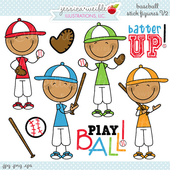 Boys clipart baseball. Boy stick figures v