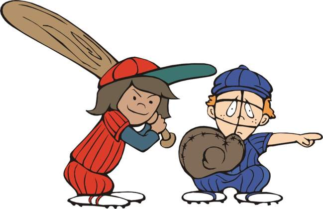 Boys clipart baseball.