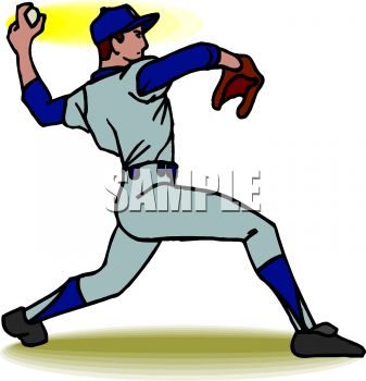 Boys clipart baseball. Player pitching panda free