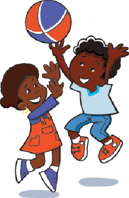 Boys clipart basketball player. Kids are playing ball