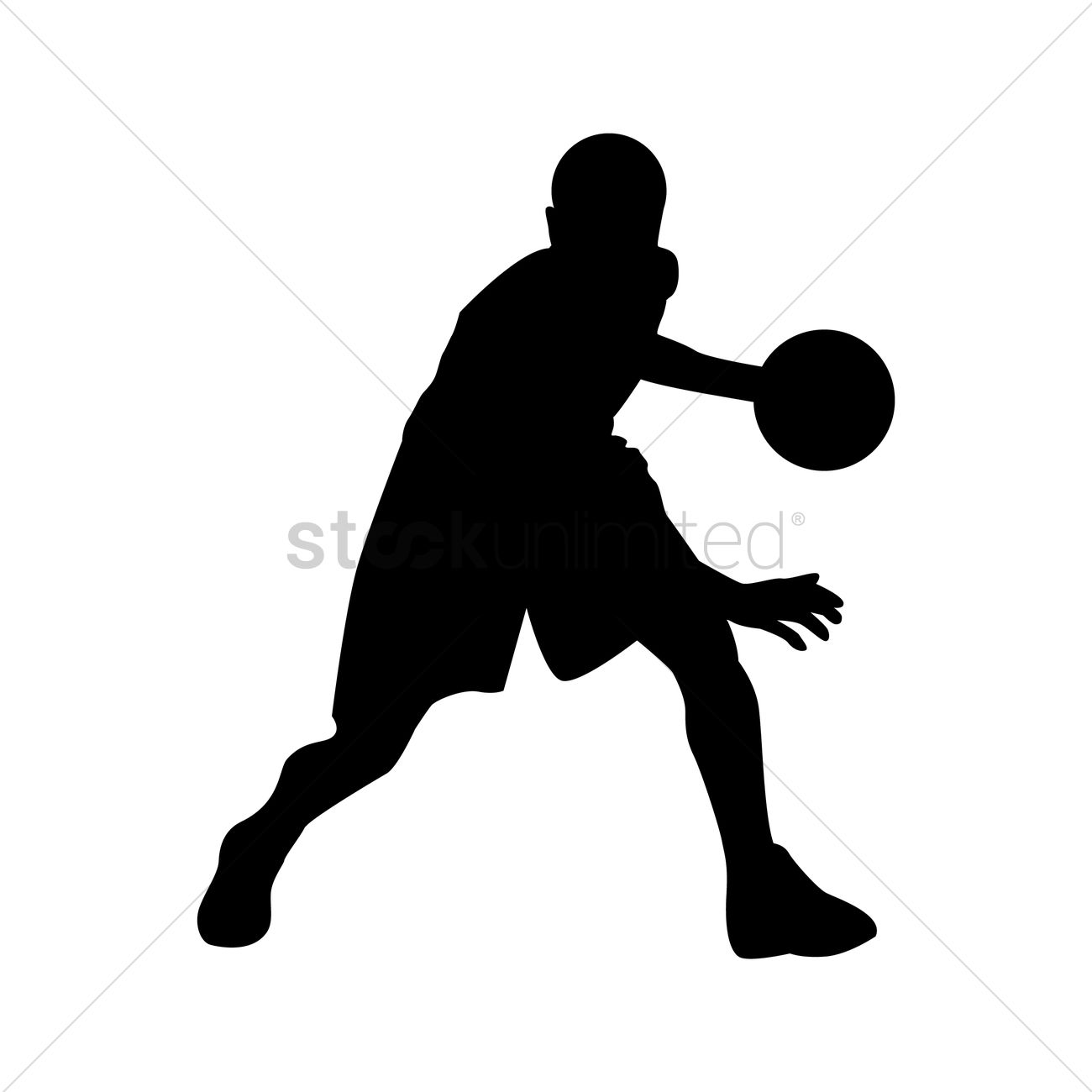 Silhouette at getdrawings com. Boys clipart basketball player