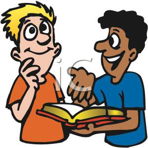 Two teenage reading the. Boys clipart bible