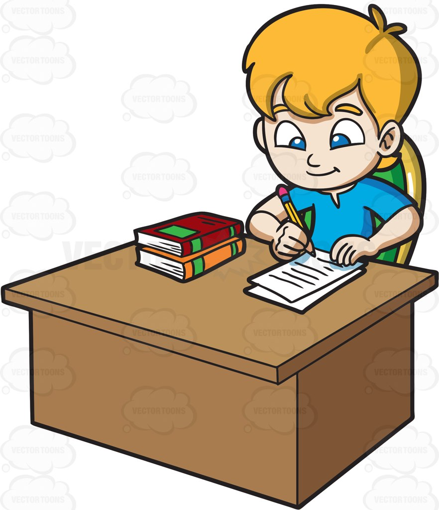 Boys clipart bored. Of boy doing homework