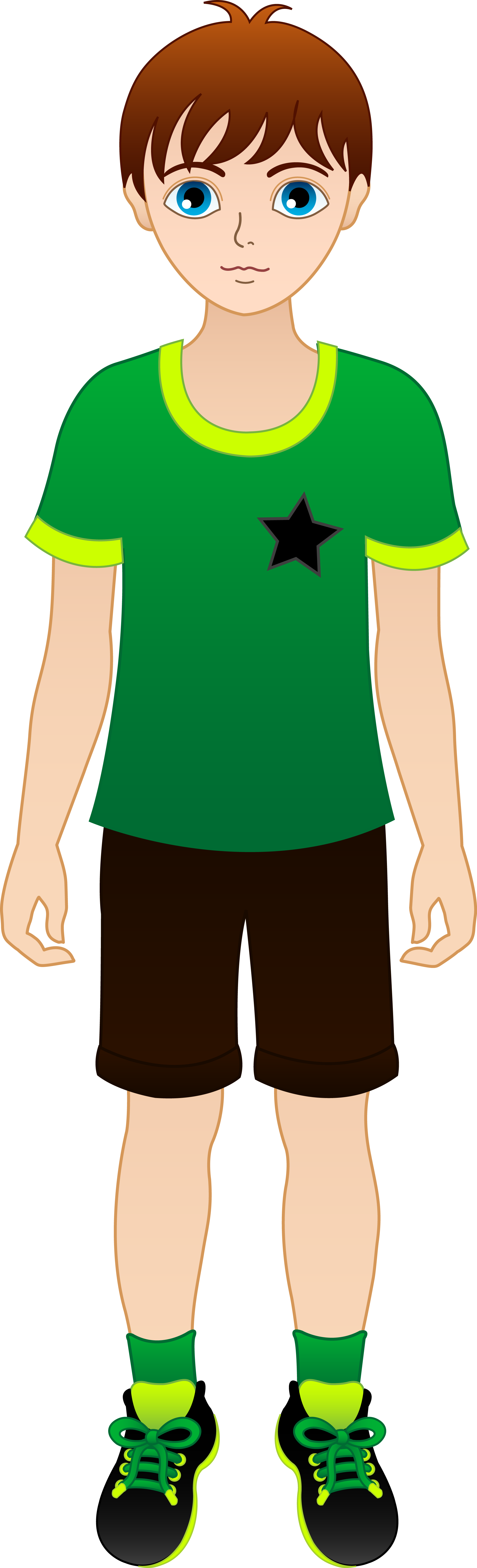 Clipart smile brown haired man. Young boy with hair