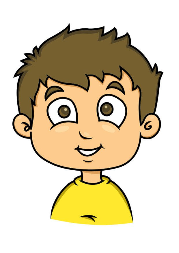Image boy with img. Boys clipart brown hair