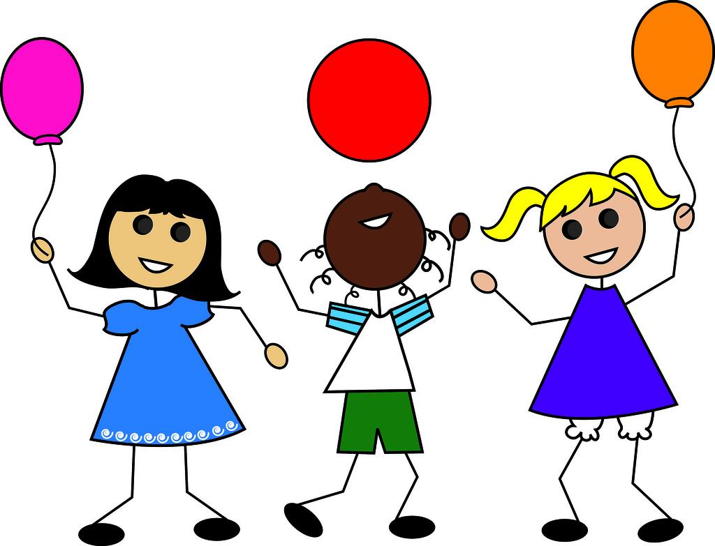 Boys clipart cartoon. Children playing kids summer