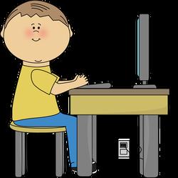 Boys clipart computer. Lab free clip art