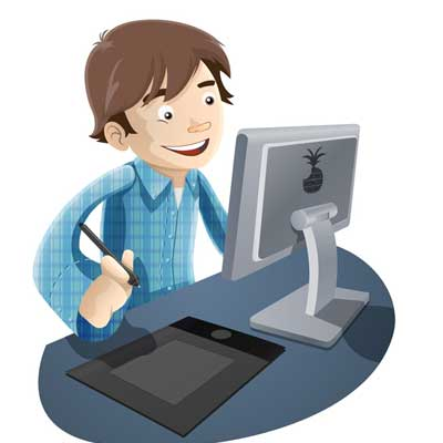 Boy working cliparts free. Boys clipart computer