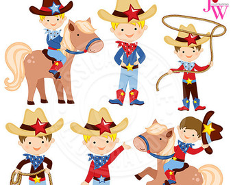 Boys clipart cowboy. Light blue baby cute
