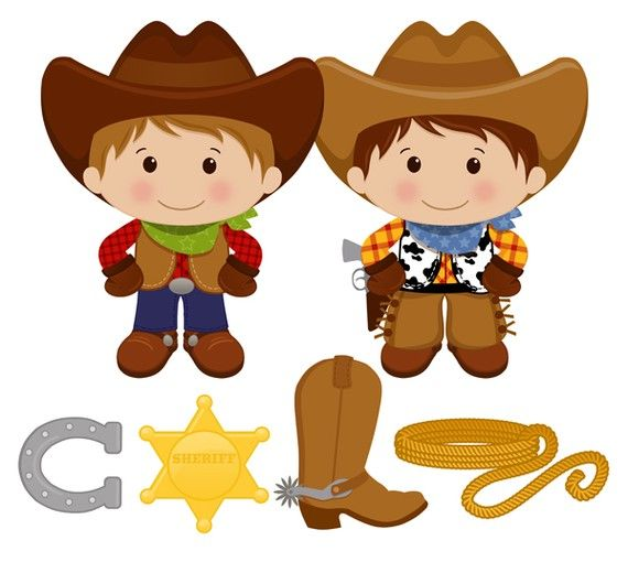 Little digital clip art. Boys clipart cowboy