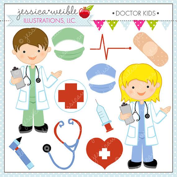 Boys clipart doctor. Kids cute digital for