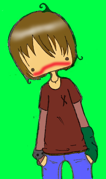 Boys clipart embarrassed. Anime boy by flyingponies