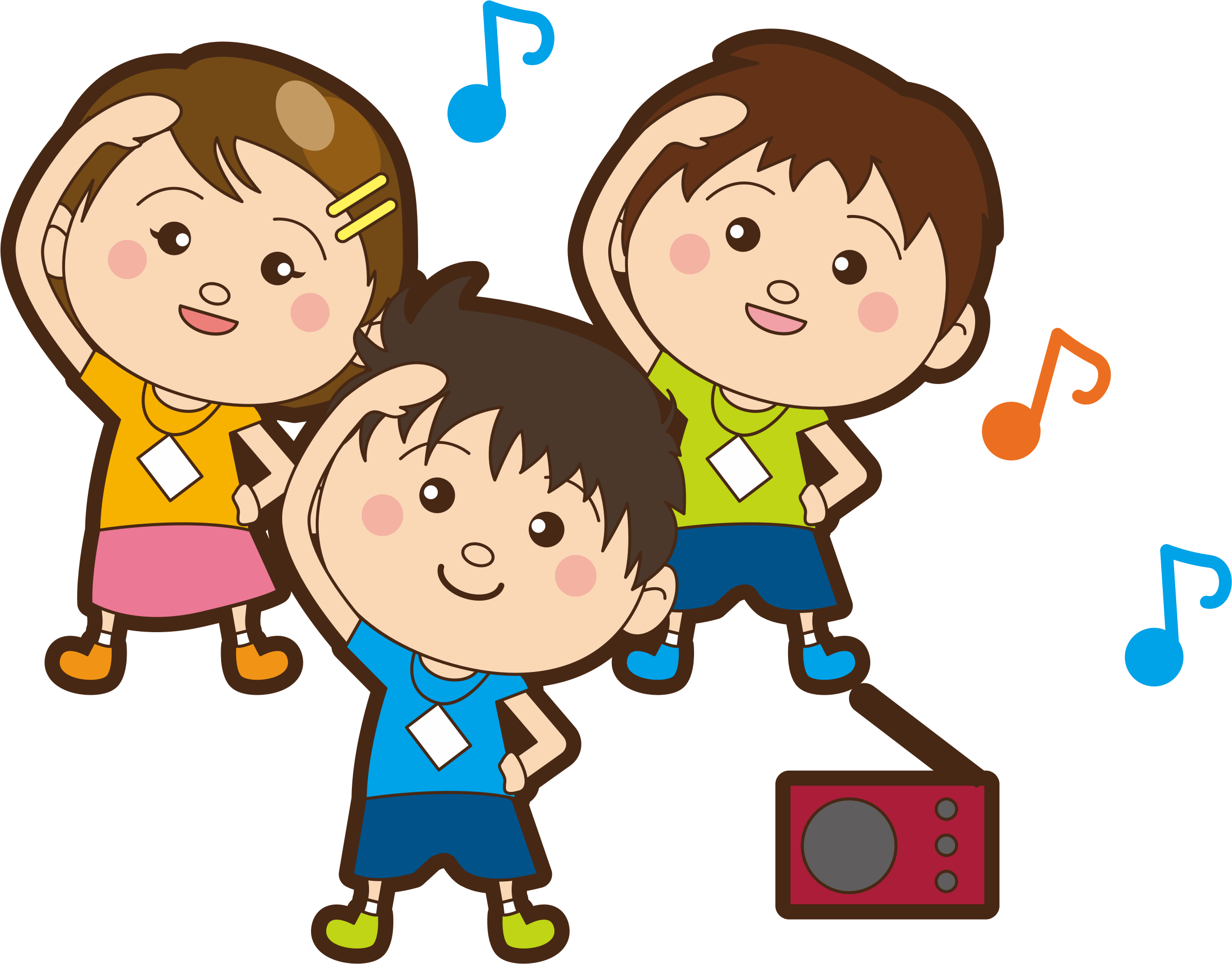 Children big image png. Exercising clipart exercise cartoon